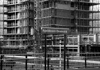 Op de achtergrond nieuwbouw van o.a. PCBO Regenboog. gm[[52.21573384516297, 6.006310880184174]]