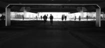 De nieuwe NS fietstunnel bevat veel lichtelementen gm[[Stationsplein, Apeldoorn]]
