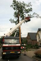 Omstreeks 16.20 uur vanmiddag is de bliksem ingeslagen in een boom aan de Zutphensestraat. De weg werd afgezet en de brandweer was druk doende de kruin van de boom weg te zagen om mogelijke ongelukken te voorkomen. De boom is tot beneden toe gespleten en zal de inslag niet overleven, aldus een brandweerman.   Mensen in de buurt zijn geschrokken van de inslag.