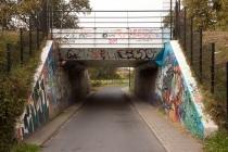 Fietstunnel onder het spoor (Apeldoorn-Zutphen) bij De Voorwaarts gm[[52.20852711485775, 5.986931920051575]]